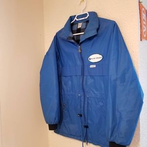 Vintage Flannel Lined Blue Cross Jacket